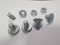 DIN603 carriage bolt short neck bolts with flange nuts